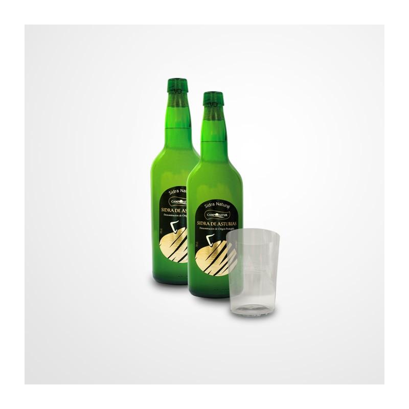 Sidra natural Campoastur + vaso